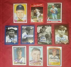 Lot Baseball Books Signed Cards Ltd Edition Sets Babe Ruth Metal Autographs Gift