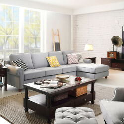 Chaise Corner Sofa Set Lounge Sectional Sofa Couch Indoor Home Furniture Suite