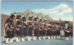 San Ildefonso Indian Pueblo Nm Native American Bow And Arrow Dancers C1940s