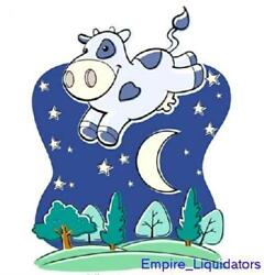 Jp London Cow Over The Moon Nursery Rhyme Night Fully Removable Mural 6'x 4.5'