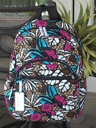 VERA BRADLEY CAMPUS ESSENTIAL LAPTOP BACKPACK SCHOOL COLLEGE CANYON ROAD