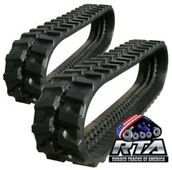 Two Rubber Tracks For Bobcat X329 334 231 X231 300x52.5x80
