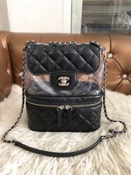 CHANEL PVC BACKPACK & CROSSBODY Excellent condition (RARE)
