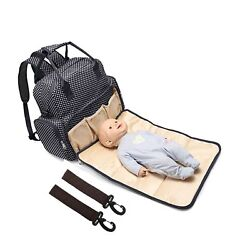 All in One Backpack Diaper Bag Waterproof Baby Nappy Bag Mom Bag for Mom and ...