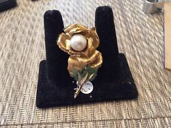 18k One Of A Kind Unusual Antique Ladies Brooch