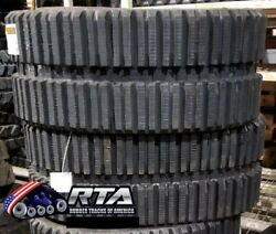 Two Rubber Tracks For Cat 239d 249d 320x86x49 Multi Bar Tread Free Shipping