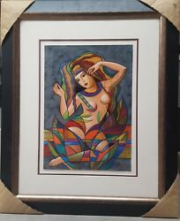 Oleg Zhivetin-untitled 001 Original Oil Hand Signed And Framed With Cert/auth