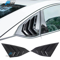 Fits 18-21 Honda Accord Oe Factory Style Side Quarter Window Louver Cf Print Abs