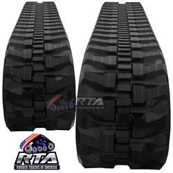 Two Rubber Tracks Fits Daewoo Solar 30 300x52.5x76 Free Shipping