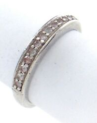 Vintage Women Ladies Size 7.25 Us Cubic Zirconia Stone Sterling Silver Ring G850
