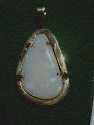 Impressive Large O P A L Pendant Set In 18 Ct Sold Gold From Australia