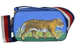 NEW Gucci 461461 Leather Bengal Tiger Web Stripe Crossbody Bag Purse Clutch