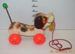 Vintage 1968 Fisher Price Little Snoopy Pull Toy 693 Rare Vhtf