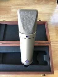 Neumann U 87 Ai Condenser Microphone with Shockmount and Wooden Box