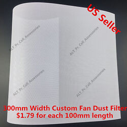 300mm Width Computer PC Dustproof Cooler Fan Custom Cover Dust Filter Mesh White $1.79