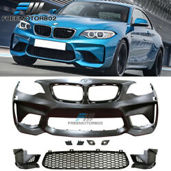 Fits 14-21 Bmw F22 F23 2 Series M2 Style Front Bumper Conversion Cover