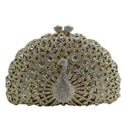 DMIX Womens Luxury Peacock Crystal Clutch and Evening Bags for Wedding...