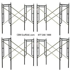 4 Set Of New 3and039 X 6and0397 X 10and039 Plastering Masonry Scaffold Frame Set Cbm Scaffold