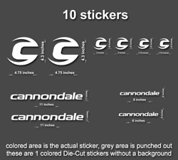10x Cannondale Road Mountain Downhill Bike Sticker/decal Laptophelmetbicycle