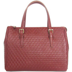 TOD's Made in Italy SIGNATURE designer embossed brown leather Bowler bag $1200 $500.00