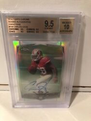 Carlos Hyde /75 Chrome Auto Bgs 9.5 Browns 2014