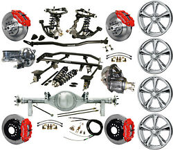Ridetech Coilover4-linkcurrie Rear End17 Wheelswilwood 13 Disc Brakesred