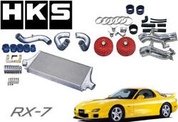 Hks R Type Intercooler Turbo Piping And Air Intake Filter Complete Kit Mazda Rx7