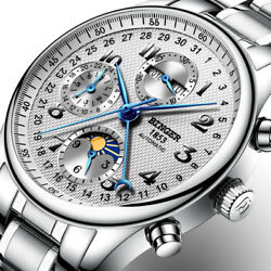Watches Men Luxury Brand Multiple Functions Moon Phase Sapphire Calendar Quality