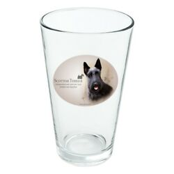Scottish Terrier Scottie Dog Breed Novelty 16oz Pint Drinking Glass Tempered