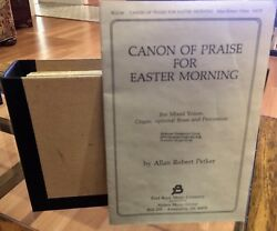 Canon Of Praise For Easter Morning Satb Composed By Allan Robert Petker