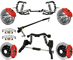 Ridetech Coilover And Steering System And Wilwood Disc Brake Kit13 Rotorsred6367