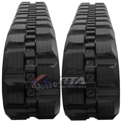 Two Rubber Tracks For Case 5635 5640 W/ Loegring Vts 450x86x56 Block Tread