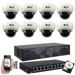 8ch Nvr 8 4k 8mp 3x Zoom Microphone Ip Poe Dome Security Camera System 1tb Hdd