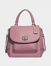 New COACH F30525 Faye Leather Purse Satchel Backpack Crossbody Bag Dusty Rose