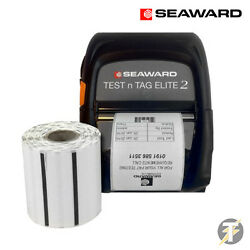 Seaward Testand039nand039tag Bluetooth Elite 2 Label Printer With One Roll Of Small Labels
