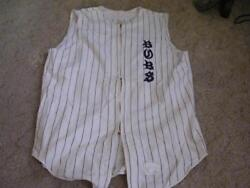 1950and039s-60and039s Spanjian Sleeveless Zippered Baseball Jersey Team Bubs 22 Size 42