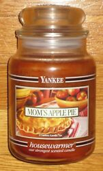 Yankee Candle - Mom's Apple Pie - 22 Oz - Black Band - Hard To Find