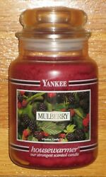 Yankee Candle - Mulberry - 22 Oz - Black Band - Rare And Very Hard To Find