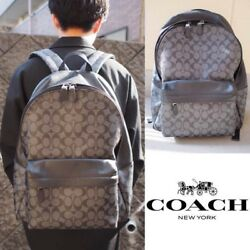 Coach Signiture Leather Backpack DayBag Rare Free Shipping Men's Fashion