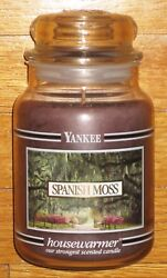 Yankee Candle - Spanish Moss - 22 Oz - Black Band - Very Rare And Hard To Find