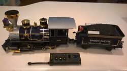 Scientific Toy G Gauge 3691 Engine Union Pacific Tender And Remote Train-eztec
