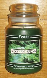 Yankee Candle - 22 Oz - Woodland Spring - Black Band - Rare And Hard To Find