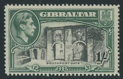 Gibraltar 1938-51 1-  black & green Perf 14 MNH SG 127 Cat £45($57) toned gum