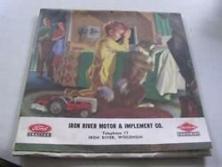 Iron River Wi Motor And Implement Co Ford Tractors 1955 Complete Unused Calendar