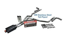 Ford F-150 04-14 2.5 Ss Dual Exhaust Kit Flowmaster Super 40 Side Clamp Tip