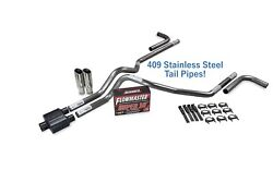 Chevy Gmc 1500 96-99 2.5 Ss Dual Exhaust Kit Flowmaster Super 10 Side Clamp Tip
