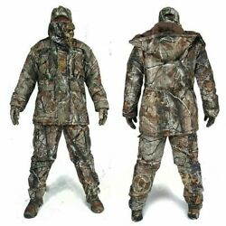 Mens Winter Bionic Camouflage Thicken Hunting Clothes Tactical Waterproof Suits