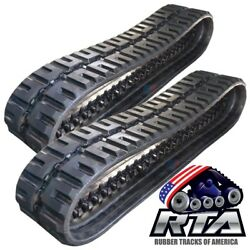Two Rubber Tracks For Case 4640 W/ Vts 320x86x52 C-lug Tread Free Shipping