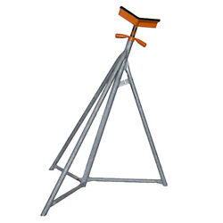 Set Of Four Brownell Galvanized Sail Boat Stands Sb3 Size 35 Inches - 52 Inches