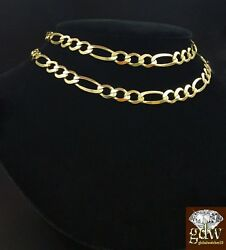 Real 14k Yellow Gold Figaro Chain Solid 14kt 24 26 28 100 Authentic Necklace